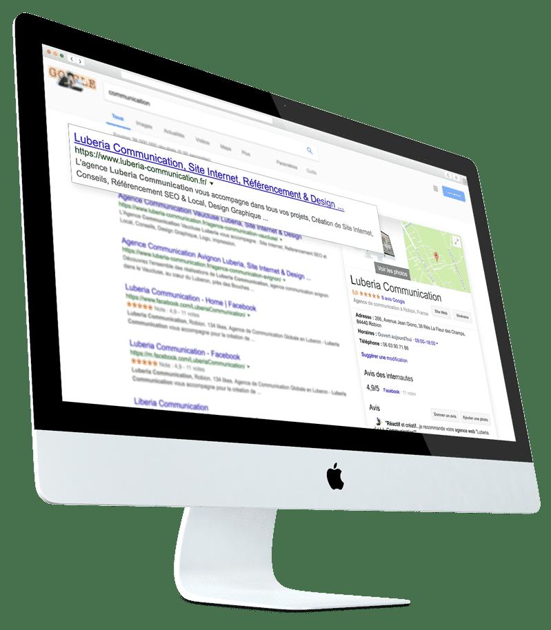 Etre visible sur google avec Luberia Communication
