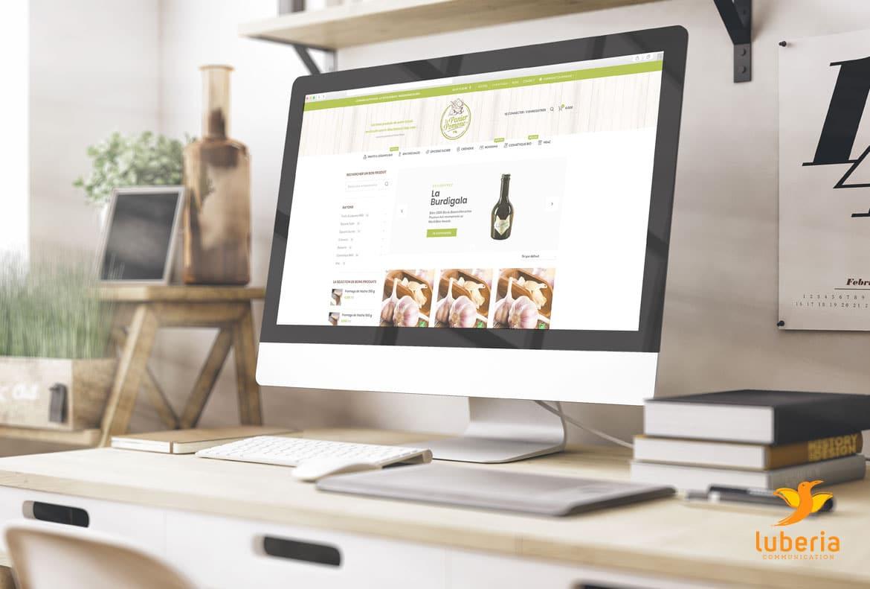 Création du site e-commerce du Panier de Pomone qui vend des produits bio locaux