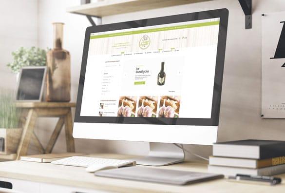 Création du site internet du Panier de Pomone qui vend des produits bio locaux
