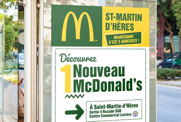 Affiche abribus Mc Donald's Grenoble