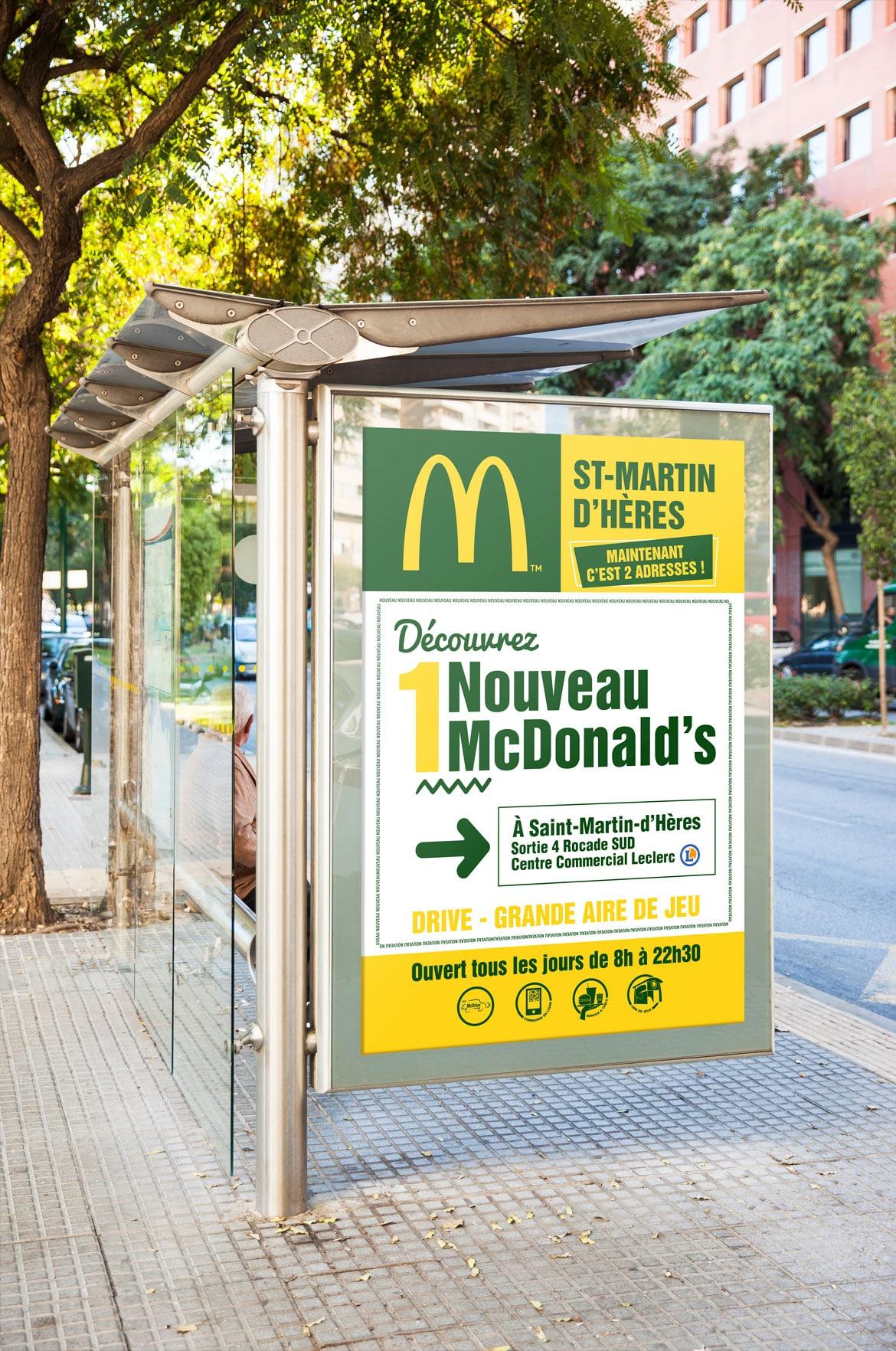 Affiche abribus Mc Donald's Grenoble