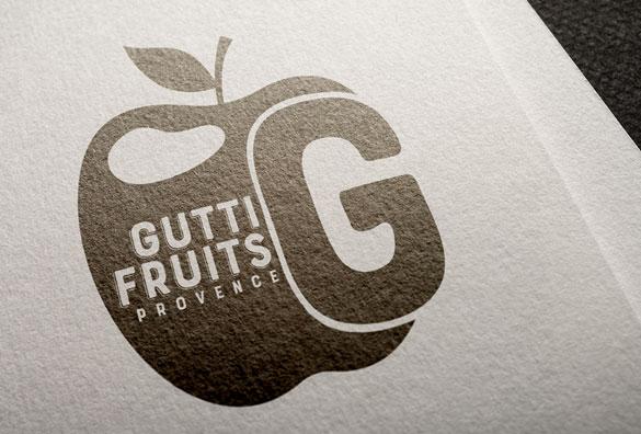 Creation Logo Entreprise Gutti Fruits