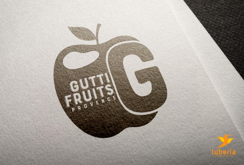 Création logo entreprise et creation identité visuelle Gutti Fruits