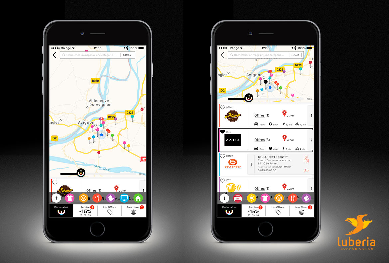 Design d'application mobile et smartphone par Lubveria Communication Vaucluse