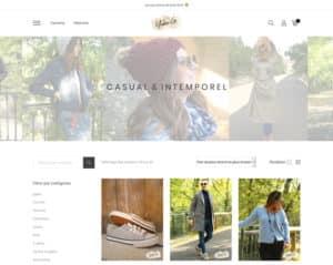 Création de site web pour prêt à porter