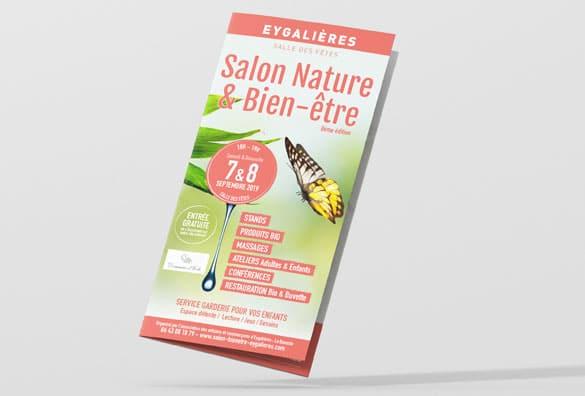 Création de publicité, dépliant, affiche pour Salon et événementiel