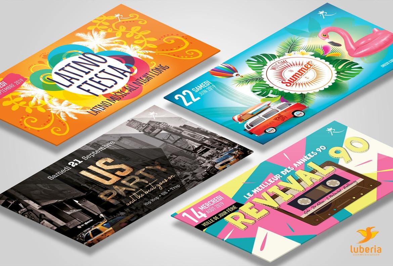 Création de visuels pour clubs et discothèque