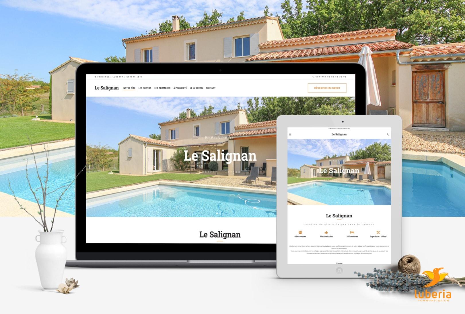 Création de site web pour gite, chambres d'hôtes, mas et location hébergement