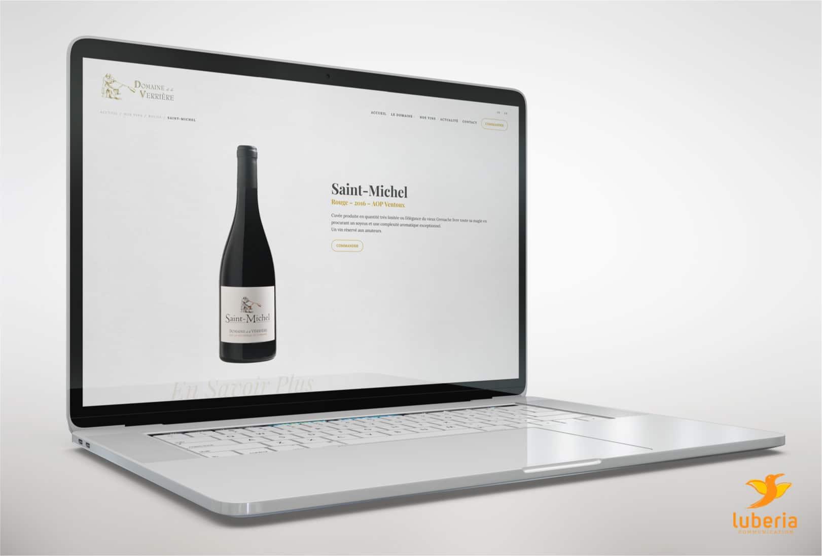 Création de site web pour domaine viticole, vignoble et cave à vin