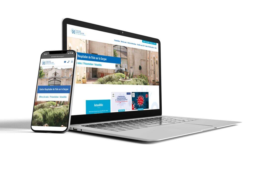 Création site web hopital de l'isle-sur-sorgue dans le Vaucluse
