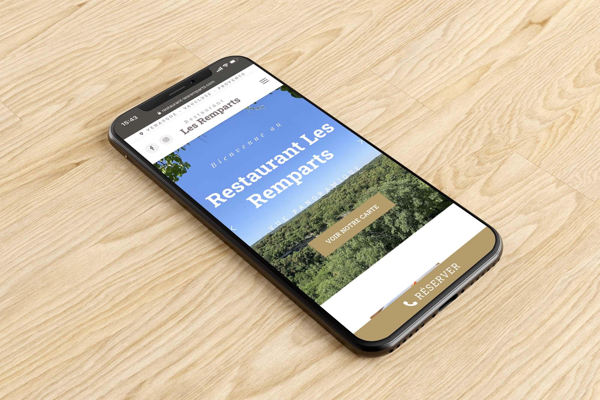 Création de site web pour restaurant dans le Vaucluse